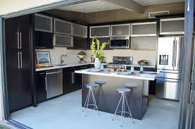 minimalist grey nuance of the garage kitchen conversion design luxury nice design of the garage kitchen conversion design that has white modern floor with cream