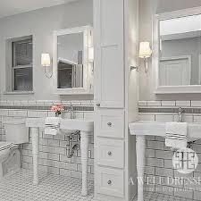 bathroom tile border ideas white subway tiles gray border tiles design ideas