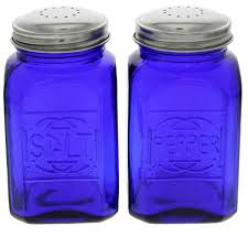 Cobalt Blue Kitchen Canisters Cobalt Blue Salt And Pepper Shakers Reproduction Kitchenware