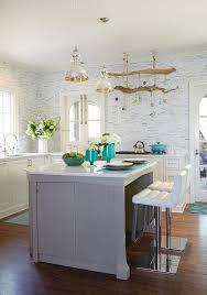 Mercury Glass Island Light Blue Kitchen Island With Mercury Glass Pendant Lights