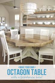 Length Of 8 Person Dining Table by Diy Octagon Dining Room Table With A Farmhouse Base Make It