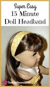 fabric headbands easy 15 minute american girl doll headbands creatively