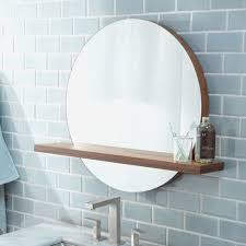 Round Bathroom Mirror With Shelf by Round Bathroom Mirror With Shelf Beautiful Solace Round Bamboo
