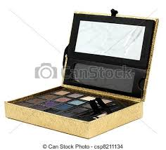 Makeup Box gold makeup box golden makeup box isolated on white stock photo