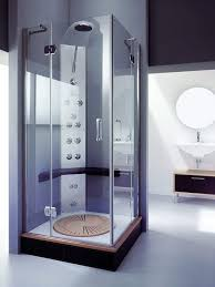 Sliding Shower Doors For Small Spaces Block Glass Shower Room With Sliding Glass Door And Shelves Also