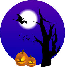 halloween moon background clipart halloween scene