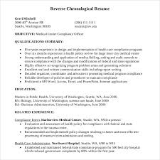 Define Chronological Resume Chronological Resume Template 23 Free Samples Examples Format