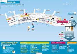 Charles De Gaulle Airport Map аэропорта парижа шарль де голь терминал 2b Cdg Charles De