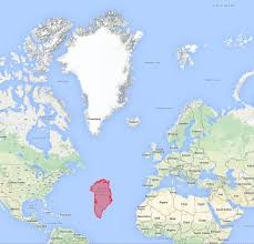 Greenland On World Map by Is Greenland Bigger Than Africa Or Australia Hic Sunt Dracones