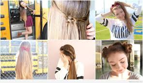 hairstyles for back to school for long hair easy back to school hairstyles for long hair quick curly cute