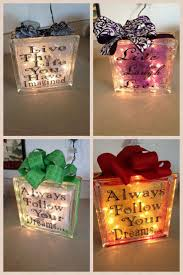 Decorative Glass Block Lights 201 Best Glass Blocks Images On Pinterest Glass Block Crafts