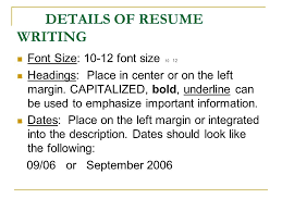 Resume Font Size 10 Resume Writing Workshop Introduction You Only Get One Chance To