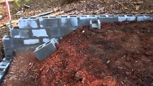 home design cinder block retaining wall foundation fireplace