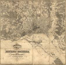 Crestwood Map Incredible 1850s Map Of Washington Ghosts Of Dc