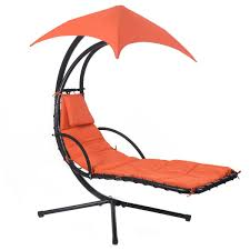 Swing Lounge Chair Hanging Chaise Lounge Chair With Canopy Hammocks Outdoor