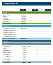 Excel Personal Budget Template Sle Personal Budget Personal Budget Sheet Sle Pdf