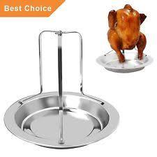 vertical turkey roasting stand stainless steel chicken roaster rack vertical turkey holder stand