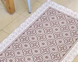 tiles in pink this is a pvc linoleum vinyl rug these