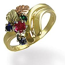black gold mothers ring landstroms black gold mothers ring with birthstones lr3034