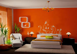 what color goes with orange walls orange wall paint color for cozy bedroom layout with white wall