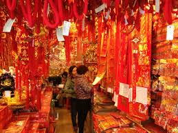 new year traditional decorations preparing christmas and new year decorations in china china