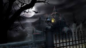 haunted halloween castle with ghost wallpaper widescreen hd