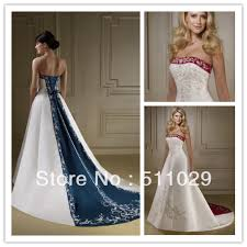 two color wedding dress wd 1871 popular navy blue and white wedding dress two tone wedding