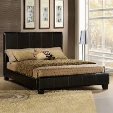 oxford creek dark brown faux leather queen size bed home