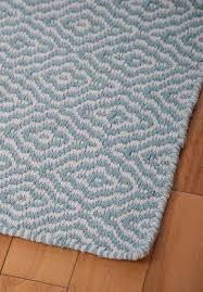 Savannah Eco Cotton Rug Light Blue And White Hook U0026 Loom