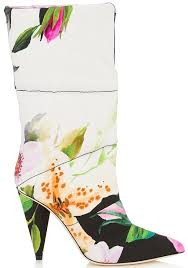 harrods s boots quilted leather boots in white and floral by jimmy choo x white