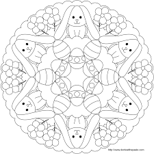 don u0027t eat the paste easter bunny and egg mandala to color