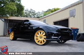 mercedes jeep gold 2014 mercedes cls on 22 inch gold lexani wheels video rides