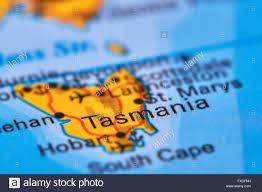 Australian World Map by Tasmania Island In Australia On The World Map Stock Photo Royalty