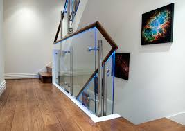 glass balustrade with led lights richmond london