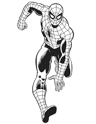 spider man color pages excellent spiderman coloring pages