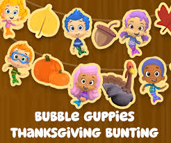 get festive with a printable gobble gobble guppies thanksgiving