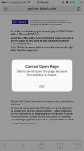 iphone cannot take photo safari blocked by metropolitan police virus 200 fine how to