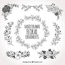 collection of floral ornaments vector free