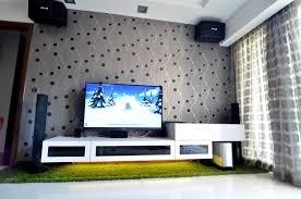 tv cabinet white livingroom wallpaper grass interiordesign