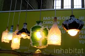 Recycled Light Fixtures A Touch Of Lace Gives These Repurposed Glass Lamps A Romantic