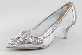 wedding shoes low heel silver wedding shoes for brides silver with kitten heel