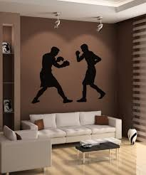 sports wall stickers sports decals for walls stickerbrand vinyl wall decal sticker boxing match os aa685