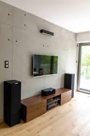 Living Room Tv by The Strength Of Concrete Indoors Concrete Wall Panels Concrete