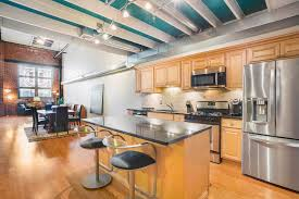 Strings Urban Kitchen Northern Liberties Home With Stained Glass And Metal Beams Asks