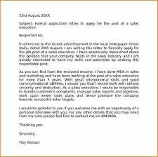 11 formal application letter format basic job appication letter