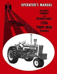 mccormick farmall and international 1206 turbo diesel tractors opera
