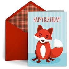 birthday fox free kids happy birthday ecard greeting card