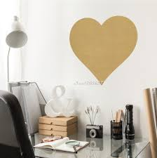 online get cheap metallic wall stickers aliexpress com alibaba large metallic gold heart wall stickers vinyl wall decal removable waterproof wall sticker decor home wallpaper