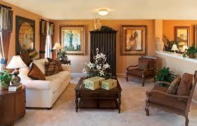 elegant chandelier above dining table retro living room cozy blue
