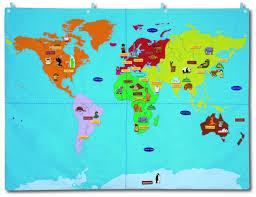 Map Fabric World Map Small